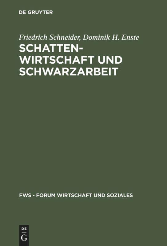 Schattenwirtschaft und Schwarzarbeit als Buch