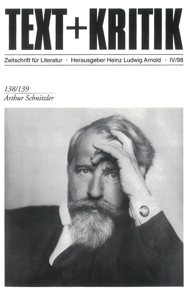 Arthur Schnitzler als Buch