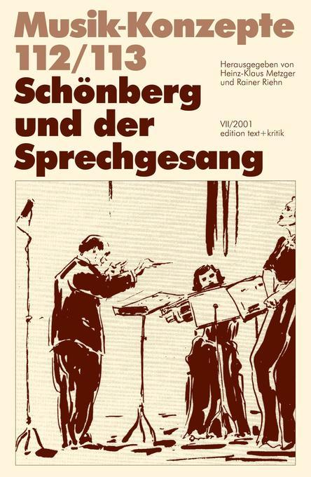 Schönberg und der Sprechgesang als Buch