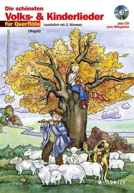 Die schönsten Volks- und Kinderlieder für Querflöte. Notenausgabe als Buch