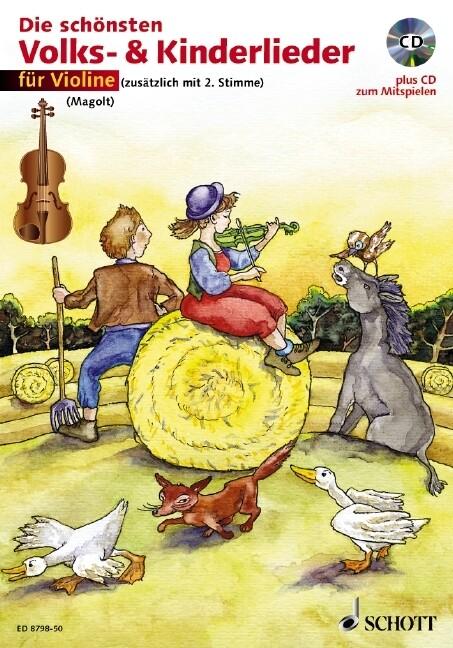 Die schönsten Volks- und Kinderlieder für Violine. Notenausgabe als Buch