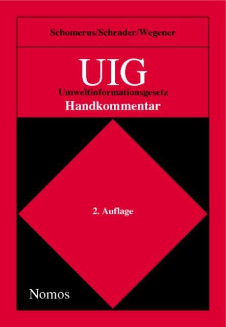 UIG, Umweltinformationsgesetz, Handkommentar als Buch