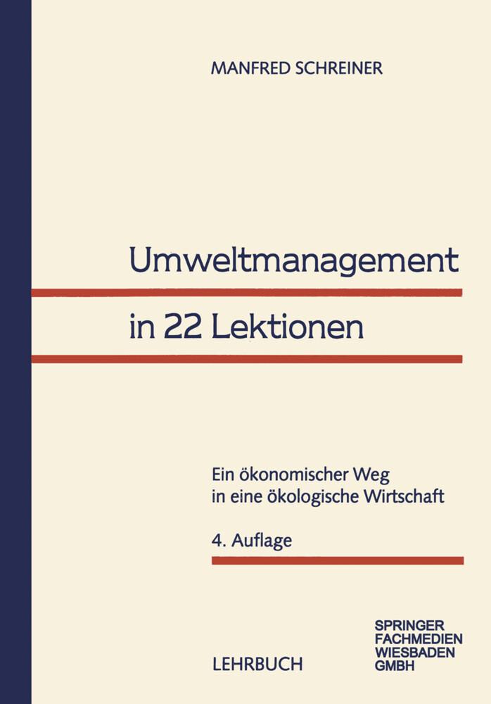 Umweltmanagement in 22 Lektionen als Buch