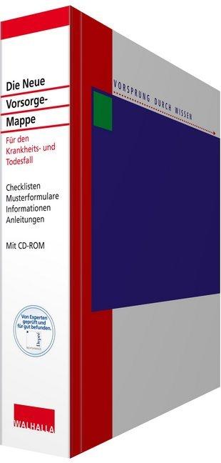 Die Neue Vorsorge-Mappe, m. CD-ROM als Blätter und Karten