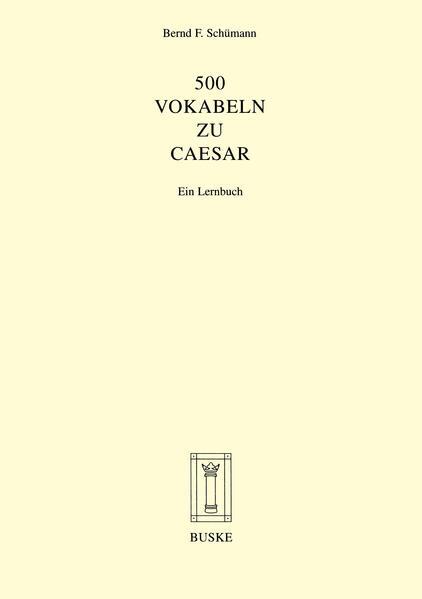 500 Vokabeln zu Caesar als Buch (geheftet)