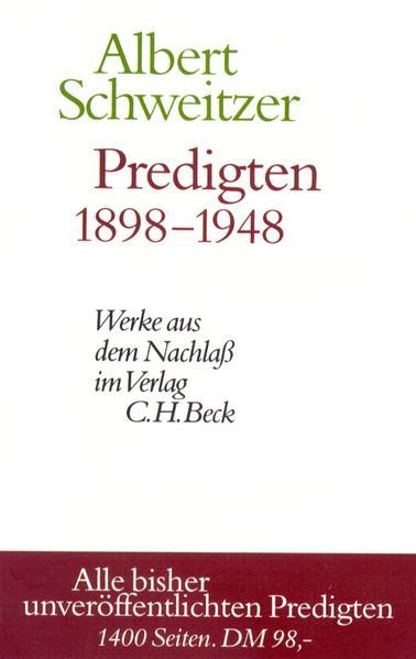 Predigten 1898-1948 als Buch