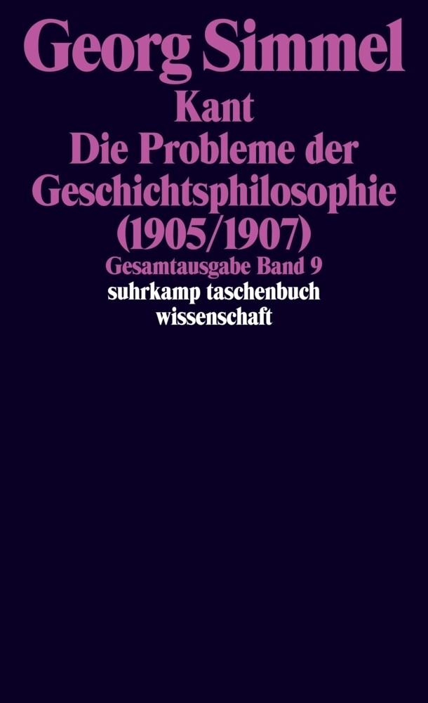 Die Probleme der Geschichtsphilosophie (1905/1907) als Taschenbuch