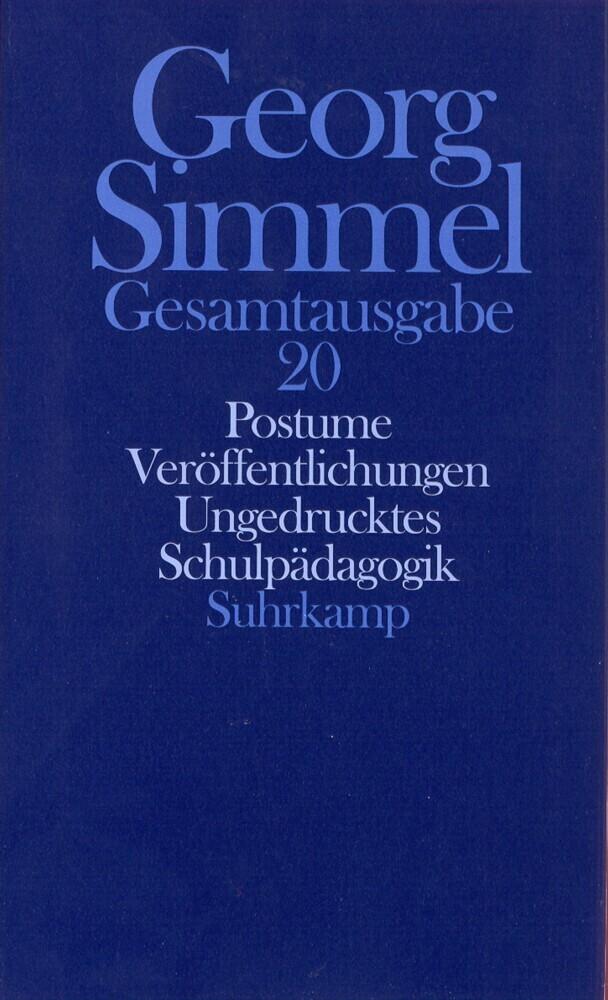 Posthume Veröffentlichungen. Schulpädagogik als Buch