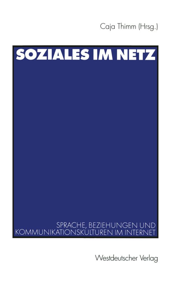 Soziales im Netz als Buch