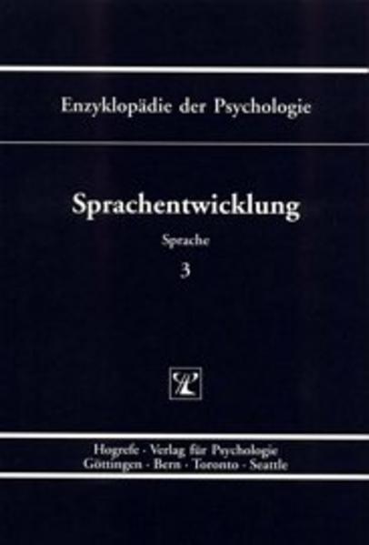Sprachentwicklung als Buch