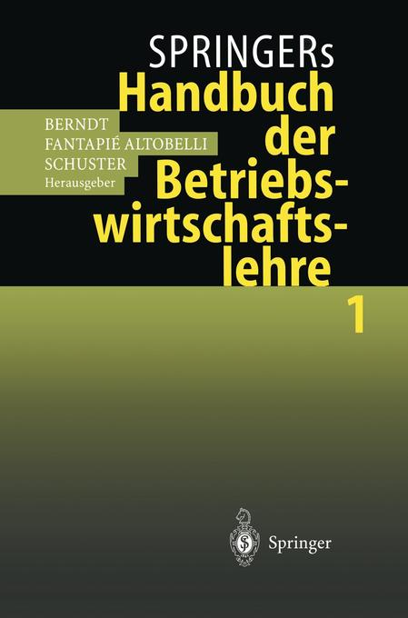 Springers Handbuch der Betriebswirtschaftslehre 1 als Buch