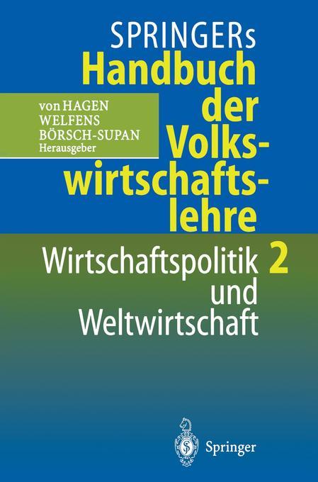 Springers Handbuch der Volkswirtschaftslehre 2 als Buch
