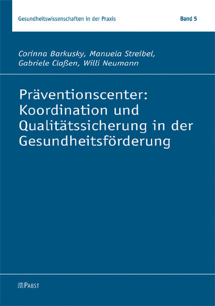 Präventionscenter: Koordination und Qualitätssi...