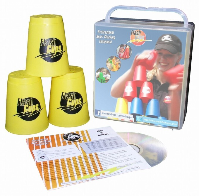 Flash Cups 1003 - Speed Stacking: FlashCups gelb, 12 Stück, mit Box+DVD als sonstige Artikel