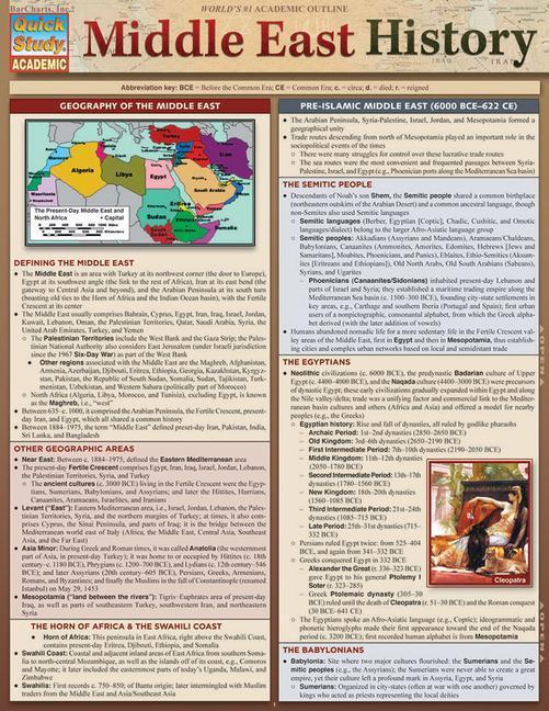 Middle East History als Sonstiger Artikel