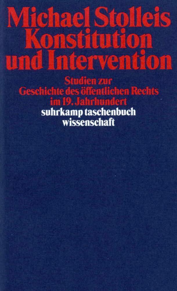 Konstitution und Intervention als Taschenbuch
