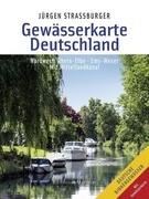 Gewässerkarte Deutschland Nordwest: Rhein-Elbe, Ems-Weser
