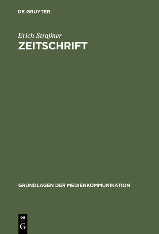 Zeitschrift als Buch von Erich Straßner