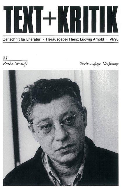 Botho Strauß als Buch