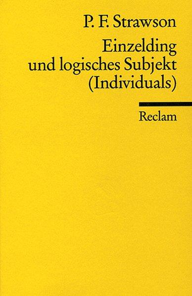 Einzelding und logisches Subjekt als Taschenbuch