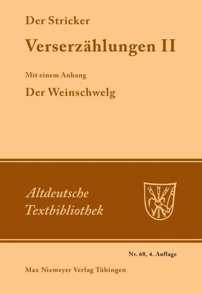 Verserzählungen II als Buch
