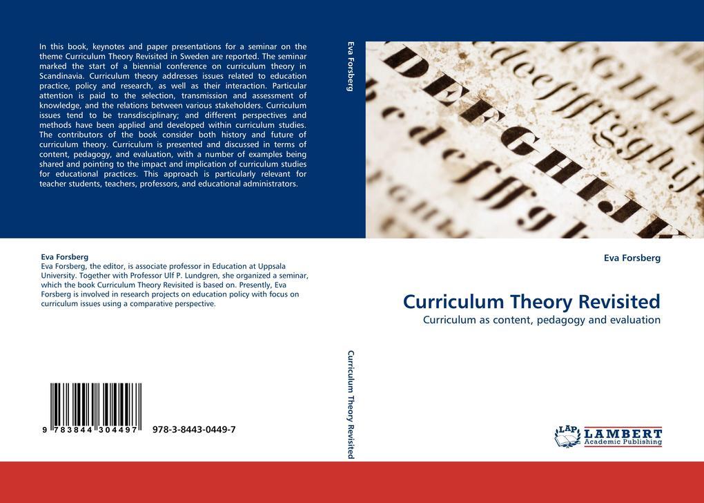Curriculum Theory Revisited als Buch von Eva Fo...