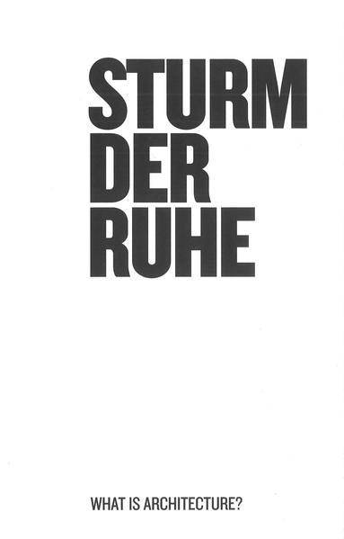 Sturm der Ruhe als Buch