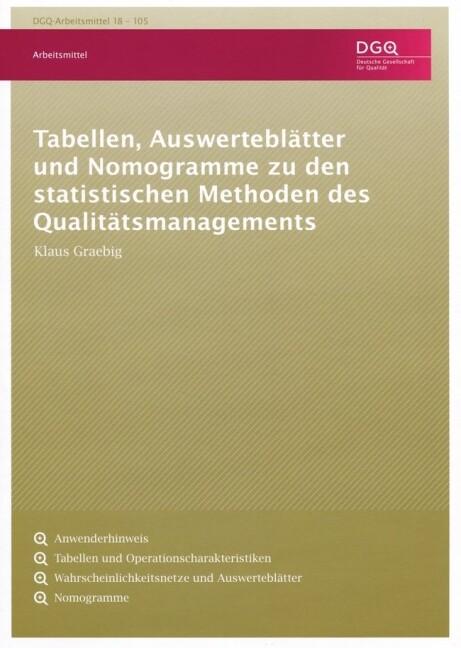 Tabellen, Auswerteblätter und Nomogramme zu den...