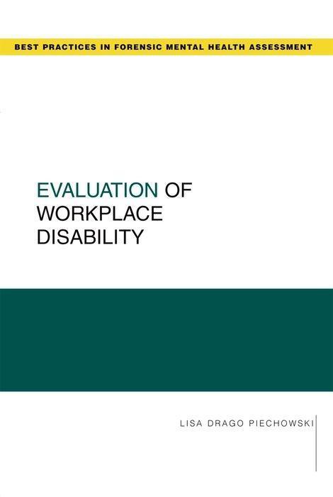 Evaluation of Workplace Disability als Taschenbuch