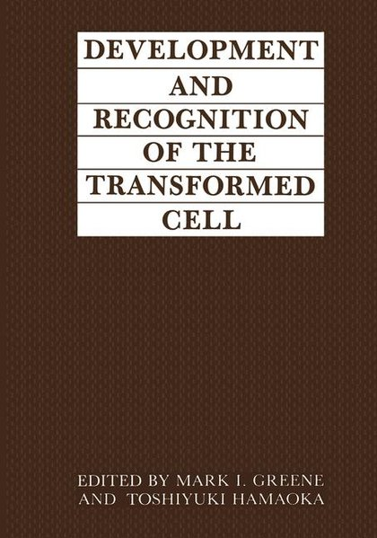 Development and Recognition of the Transformed Cell als Buch (gebunden)