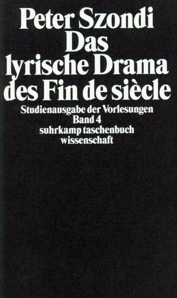 Das lyrische Drama des Fin de Siecle als Taschenbuch