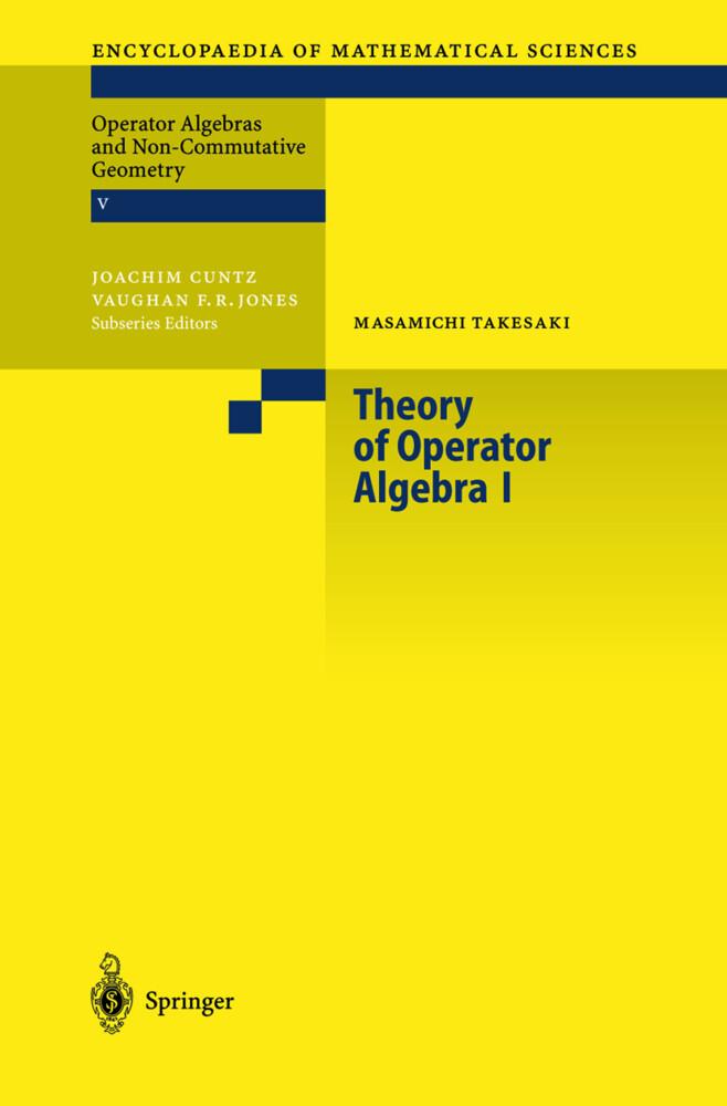Theory of Operator Algebras 1 als Buch