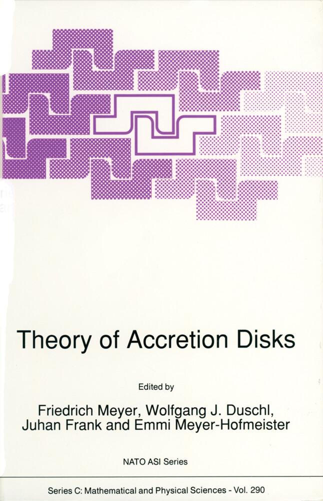 Theory of Accretion Disks als Buch (gebunden)