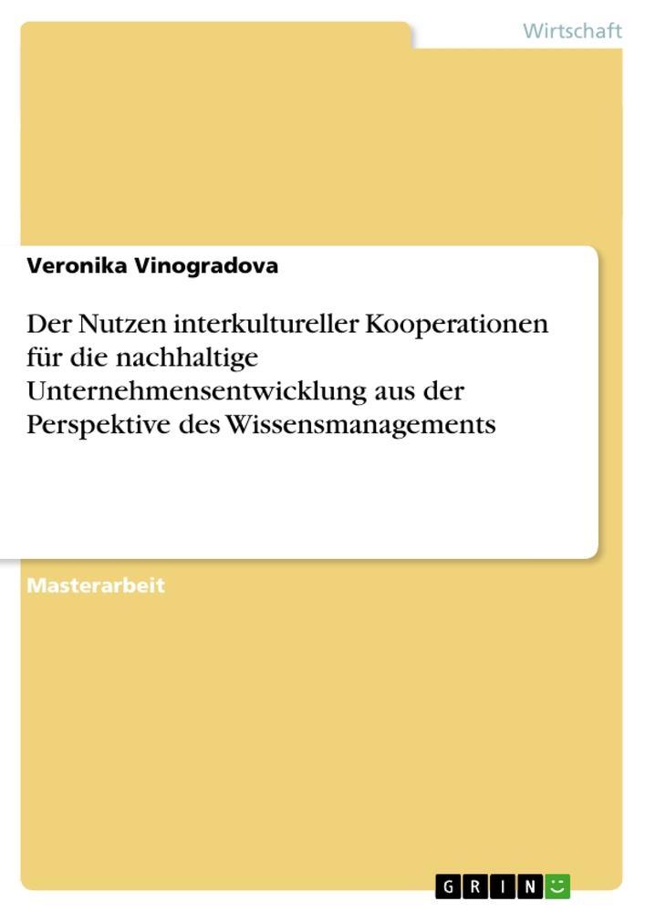 Der Nutzen interkultureller Kooperationen für d...