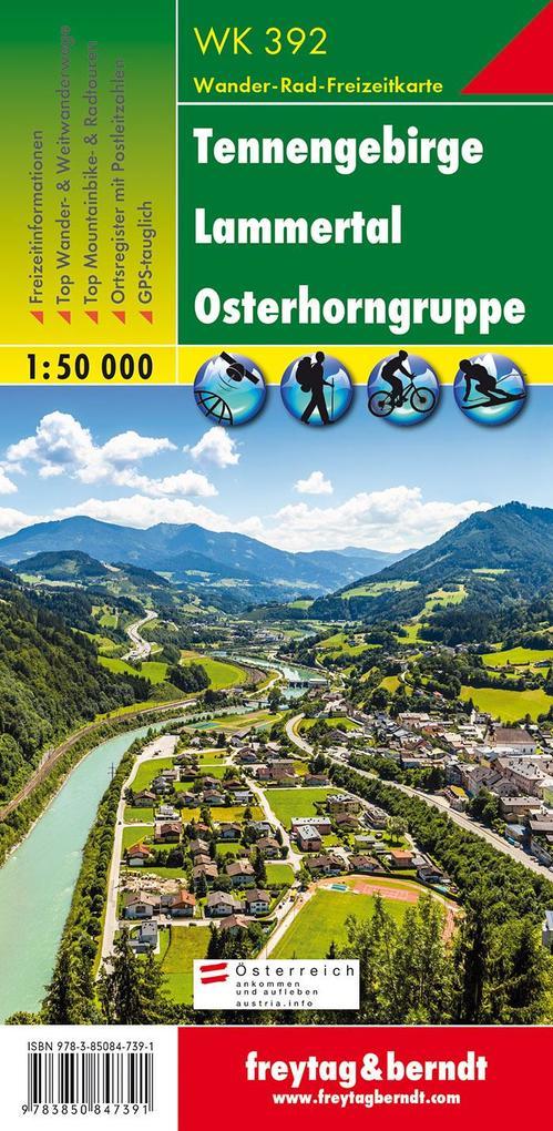 Tennengebirge, Lammertal, Gosaukamm 1 : 50 000. WK 392 als Buch