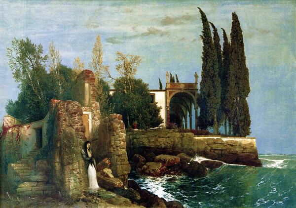 Arnold Böcklin: Villa am Meer. Puzzle 300 Teile
