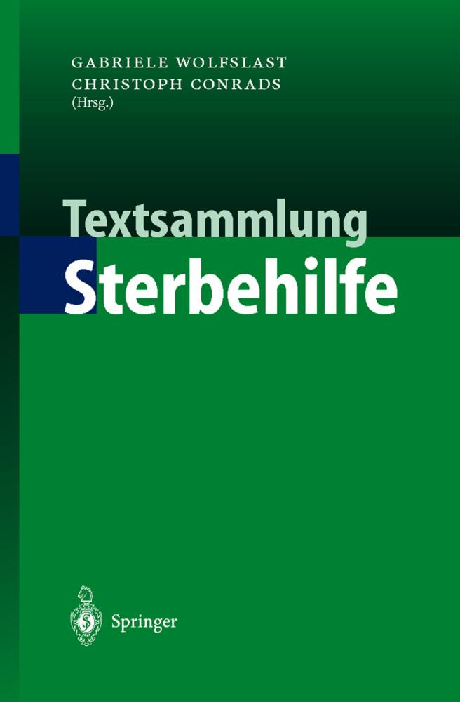 Textsammlung Sterbehilfe als Buch