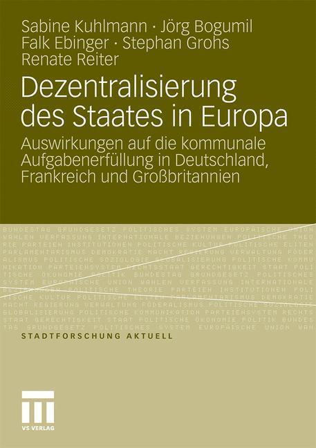 Dezentralisierung des Staates in Europa als Buc...