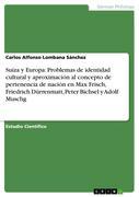 Suiza y Europa: Problemas de identidad cultural y aproximación al concepto de pertenencia de nación