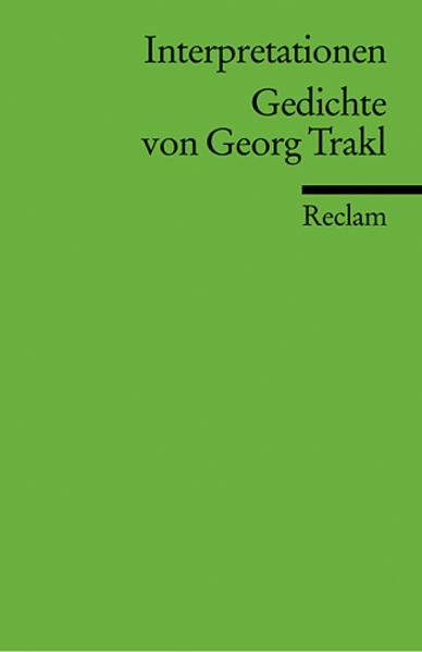 Gedichte von Georg Trakl. Interpretationen als Taschenbuch