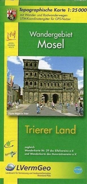 Trierer Land 1 : 25 000. Wanderkarte als Buch