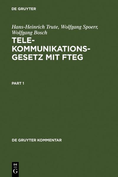 Telekommunikationsgesetz mit FTEG als Buch