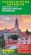 Höfer Tschechische Republik. CS004. Südliches Egerland 1 : 200 000. Straßenkarte