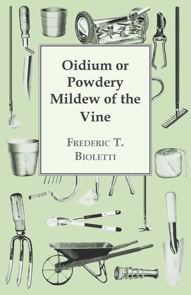 Oidium or Powdery Mildew of the Vine als Taschenbuch von Frederic T. Bioletti