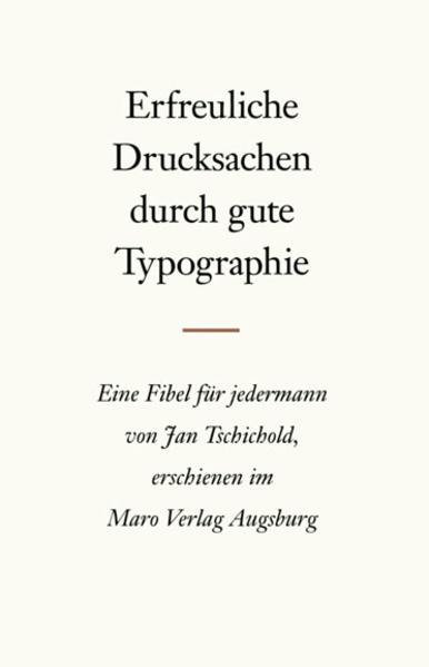 Erfreuliche Drucksachen durch gute Typografie als Buch (kartoniert)