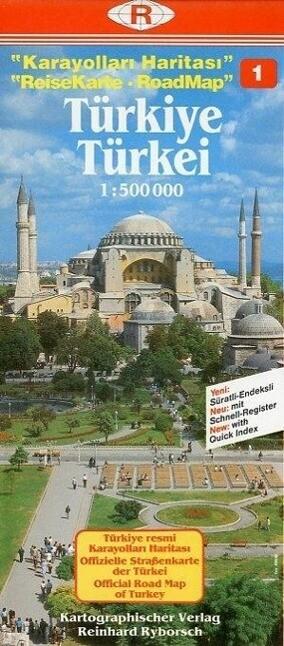 Türkei 1. 1 : 500 000. ReiseKarte als Buch