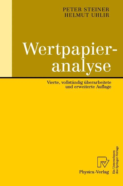 Wertpapieranalyse als Buch
