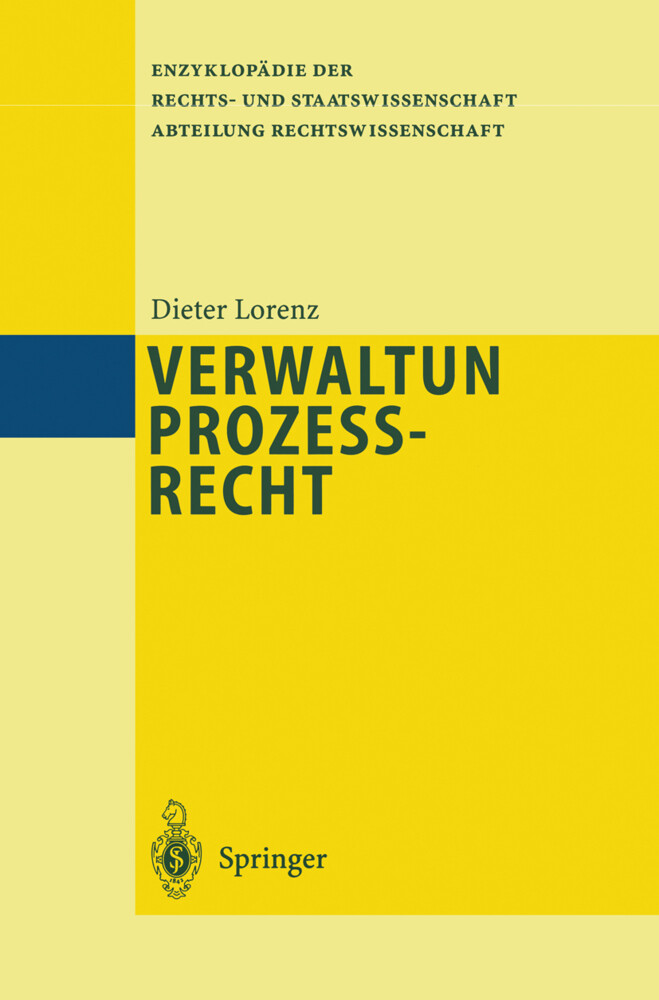 Verwaltungsprozeßrecht als Buch von Dieter Lorenz