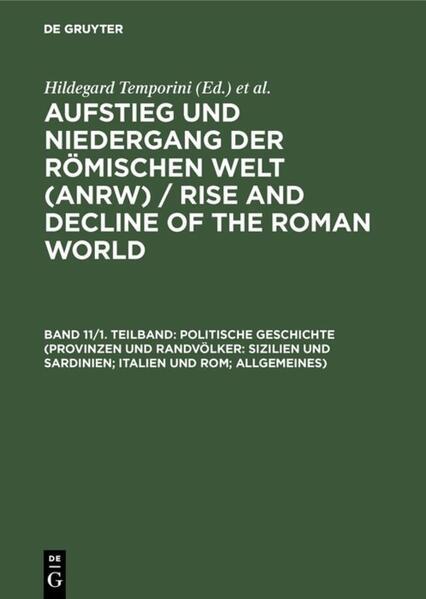 Politische Geschichte (Provinzen und Randvölker...