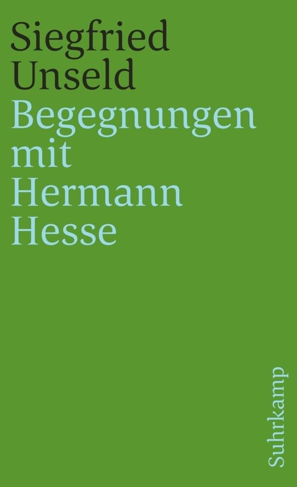 Begegnungen mit Hermann Hesse als Taschenbuch